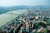 Hangang River,Gwangjin-gu,Seoul,Korea