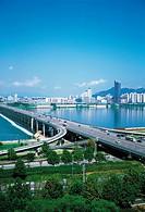 Jamsildaegyo Bridge,Hangang River,Gwangjin-gu,Seoul,Korea