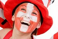 female soccer fan, EURO 2008 Austria-Switzerland