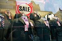 Sale in a suit shop
