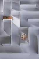 Miniature mouse with trap in maze