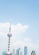 Oriental Pearl TV Tower in the blue sky