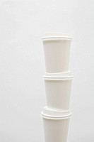 Stack of three paper cups
