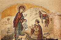 Syria - Saydnaya. Convent of Our Lady of Saydnaya, AD 547. Fresco