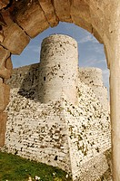Syria - Qal'at al-Hisn. Crac (Krak) des Chevaliers. UNESCO World Heritage List, 2006. Largest built Hospitallers fortress on earlier Muslim site, 12-1...