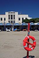 Italy - Veneto Region - Venice. Lido. Beach at Westin Excelsior hotel
