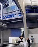 BMW PLANT LEIPZIG CENTRAL BUILDING, LEIPZIG, GERMANY, ZAHA HADID ARCHITECTS, INTERIOR, VIEW OF THE ENTRANCE LOBBY
