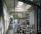 BMW PLANT LEIPZIG CENTRAL BUILDING, LEIPZIG, GERMANY, ZAHA HADID ARCHITECTS, INTERIOR, VIEW OF THE OFFICE CASCADE