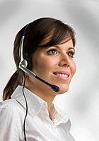 Woman with Head set