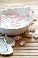 Rose petal footbath