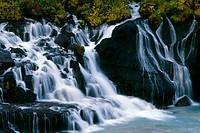 Waterfall, Hraunfossar, Iceland,
