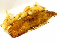 Fish and Chips in take out packaging