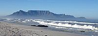 Beach in Cape Town and Table Mountain South Africa