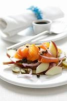 Smoked salmon and apple salad