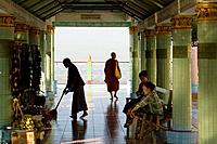 Pagoda of Kaunghmundaw, old royal city of Sagaing near Mandalay, Myanmar