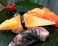 Kazunoko, Kohada, Akagai, hand-shaped sushi