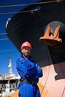 Portrait of a harbour worker