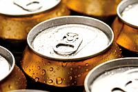 Beer cans, close_up