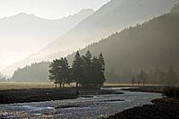 Austria, Tirol, Karwendel, Rißbach River