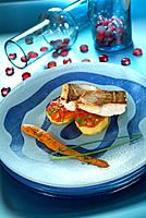 Sea bream with potato and light romesco sauce