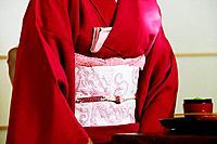 Close_up of geisha wearing Kimono.