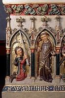 Tumba des heiligen Wendelin, Wendelin und Stifterfigur