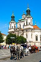 Czech Republic _ Prague _ Staré Mesto Prague 1 District _ Old city Square Staromestské namesti _ Saint_Nicholas Church