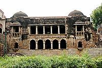 Delhi. Hauz- Khan Siri.1303 A.D. General View of the Mughal double-storey.
