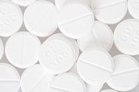 Close up of white pills