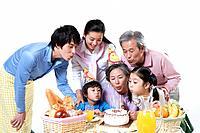 Family Having Birthday Celebration,Korea