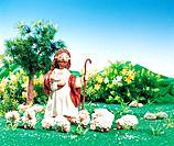 Clay Illustration, Jesus, lamb, shephard