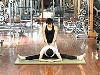 People Exercising in Gym,Korea