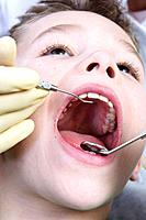 Dentist, boy, control_examination, portrait, series, people, doctor, child_dentist, woman, doctor, child, patient, health, illness, practice, dental s...