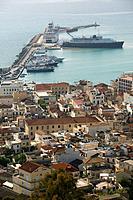Greece, Ionic islands, island zakynthos, Zakynthos city, city_overview, harbor, ships, Europe, destination, Mediterranean, Mediterranean_island, islan...