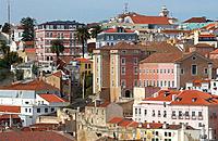 View from Santa Justa elevator, Lisbon. Portugal