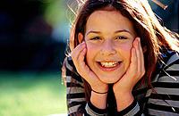 Girl portrait, 12 yrs.