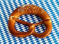 Close_up of pretzel
