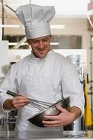 Chef whisking