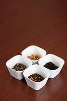 Four frames with tea