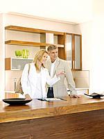 Couple viewing interior design showroom