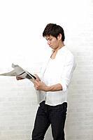 A man reading newspaper