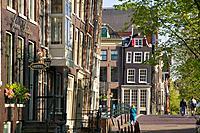 Street scene in Amsterdam Holland