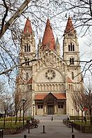 Francis of Assisi  church at Mexikoplatz. Vienna. Austria