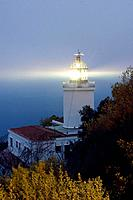 Sant Sebastià lighthouse, Calella de Palafrugell. Costa Brava, Girona province, Catalonia, Spain