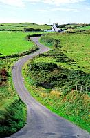 Winding narrow road,  Dursey Head peninsula, Ring of Beara, County Clare, Ireland