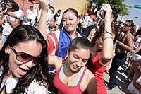 Florida, Miami, ´Little Havana´, Calle Ocho, Calle Ocho Festival, Carnaval Miami, Hispanic, annual event, celebration, Asian, girl, teen, woman, danci...