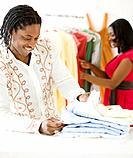 African man shopping