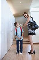 Boy leaving for school