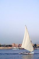 A sailing boat on the Nile, Luxor, Egypt
