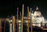 Santa Maria della Salute at night, Venice, Italy